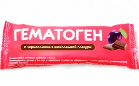 Гематоген с черносливом в шоколадной глазури