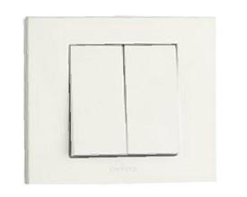 Выключатель двойной односторонний (белый цвет) М + К
