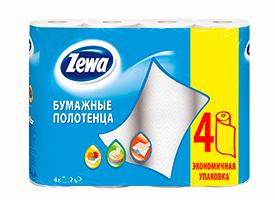 Полотенца бумажные Zewa (4 рул/уп)