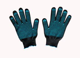 Перчатки рабочие хб с ПВХ, 4 нити, 10 класс вязки