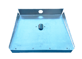 Лопата для снега алюминиевая 1,5мм 460*350мм, 3-х бортная, с планкой