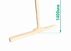 Швабра деревянная усиленная (основание 50 см, рукоятка 1400 мм)