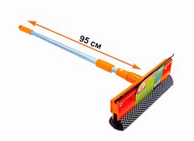Щетка для мытья окон с телескопической ручкой 95см Умничка