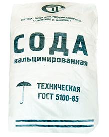 Кальцинированная сода в мешках по 25 кг