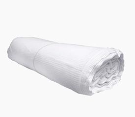 Полотно вафельное отбеленное, плотн.145г/м, ширина 45см (60м в рулоне)