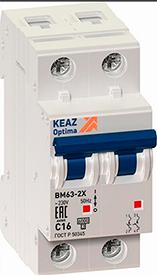 Автоматический выключатель (3SВ1-63) харак С ВА162 2р 10А арт ВА 162-10