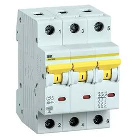 Автоматический выключатель (3SВ1-63) харак С ВА163 3р 1А арт ВА 163-2