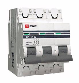 Автоматический выключатель (3SВ1-63) харак С ВА163 3р 2А арт ВА 163-2