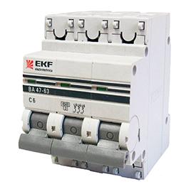 Автоматический выключатель (3SВ1-63) харак С ВА163 3р 3А арт ВА 163-3