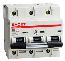 Автоматический выключатель ВА 47-100 3Р 100А 10кА хар.D SHCEТ