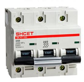 Автоматический выключатель ВА 47-100 3Р 125А 10кА хар.D SHCEТ