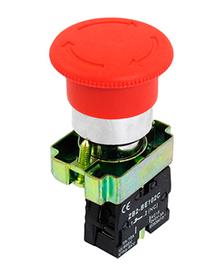 Кнопка XB-BS8445 поворотная с фиксацией гр НЗ красн. SHCET