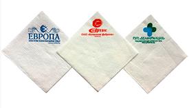Салфетки бумажные с логотипом