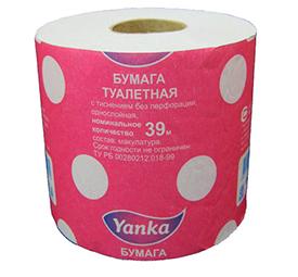 Туалетная бумага в рулончиках 39 м