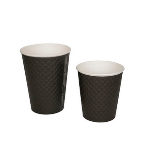 Бумажные стаканчики Двухслойные Waffle Black