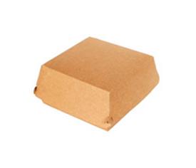 Коробка для бургера M Двойной крафт