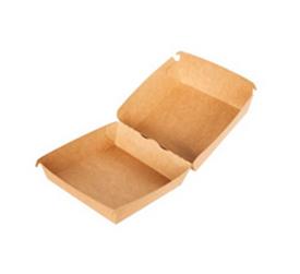 Коробка для бургера L Двойной крафт