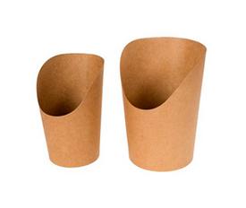 Упаковка для картофеля фри, снеков, поп корна. Средняя (480мл)