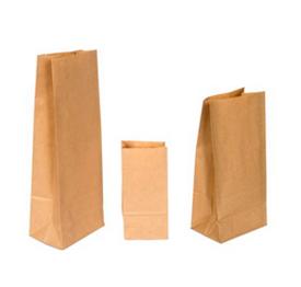 Бумажные пакеты с прямоугольным дном Крафт бурый 50 г