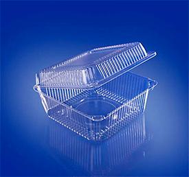 Пластиковые контейнеры для упаковки пищевых продуктов 80х80х60
