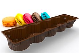 Лоток для упаковки печенья с делением на секции