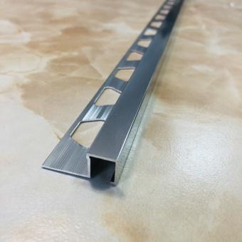 Кромочный квадратный профиль 1010 полированный 2.7 метра