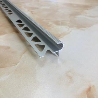 Лестничный полукруглый профиль PSP серебро 2.7 метра