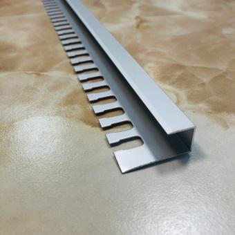 П-образный гибкий профиль П12 серебро 2.7 метра
