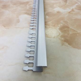 Дилатационный гибкий профиль D15 серебро 2.7 метра