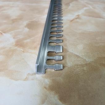 Угловой гибкий профиль L10P полированный 2.7 метра