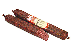 Колбаса салями мясная сырокопченая «Раубичская зернистая» высший сорт