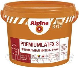 Краска Альпина Премиумлатекс База 3 прозрачная 2,35 л (3,74 кг) Alpina Premiumlatex 3, EXPERT Base3 ВД-АК