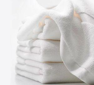 Полотенце махровое Гостиничное 40х70 белое без бордюра