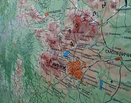 Рельефная карта Республики Беларусь