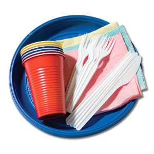 Набор одноразовой посуды на 6 персон «Смачна есцi»
