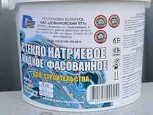 Жидкое стекло натриевое 3 кг - Домановский производственно-торговый комбинат
