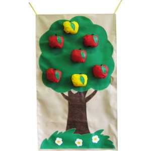Дидактическое настенное панно « Яблоки» со съёмными деталями