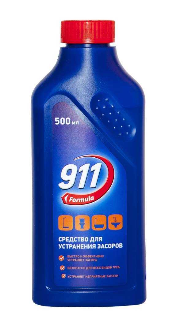 Средство для устранения засоров 911, 500 мл