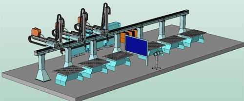 Роботизированная сварочная система с несколькими роботами для многопозиционной сварки