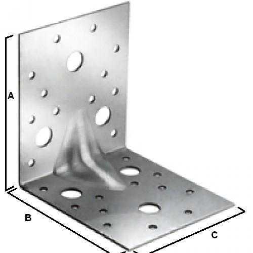 Уголок крепежный усиленный KUU 50 х 50 х 35 мм