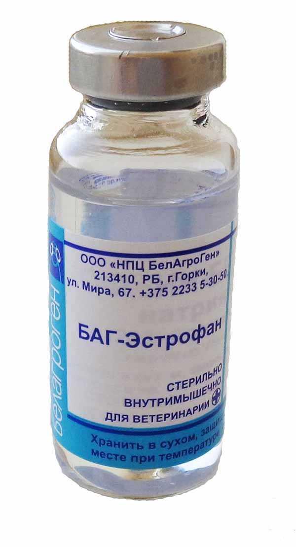 Препарат ветеринарный «БАГ-Эстрофан» (стеклянный флакон), 10 мл - БЕЛАГРОГЕН НПЦ