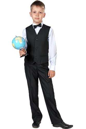 Комплект (жилет+брюки+бабочка) для мальчика младшего школьного возраста М-15-10.2
