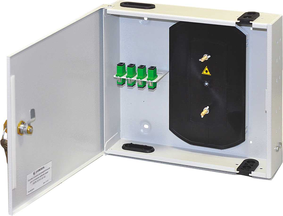 Коробка этажная распределительная для оптических кабелей связи ПЮРК.301241.016