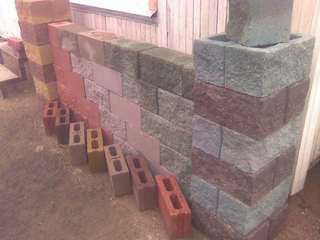 Блоки цементно-песчаные