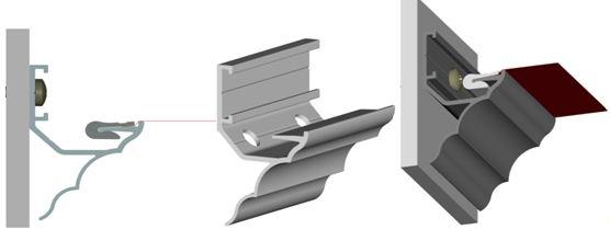 Профиль для натяжных потолков «Антик»