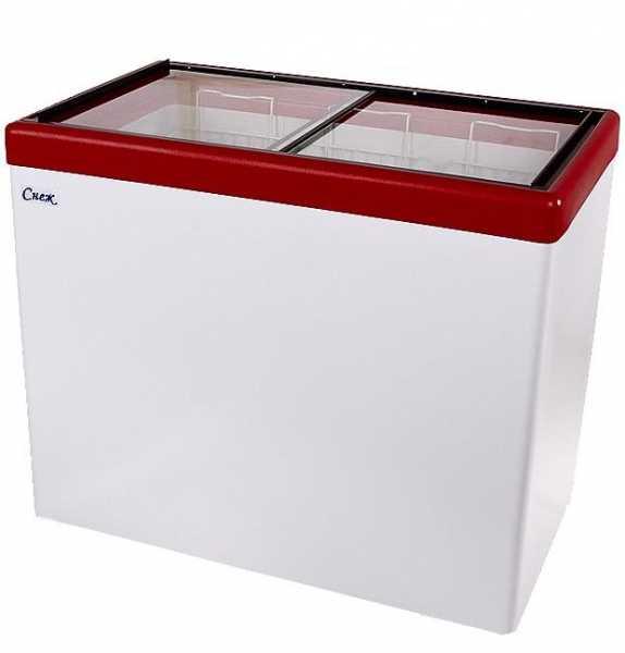 Морозильный ларь СНЕЖ МЛП-350 с прямым стеклом на 315 л.