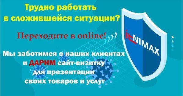 Переходите в online! АйТиНИМАКС - ДАРИМ сайт-визитку для презентации своих товаров и услуг!