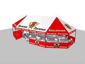 Нанесение рекламных изображений и логотипов на тенты и палатки