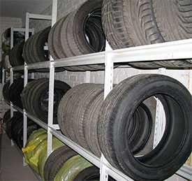 Хранение колес,шин, велосипедов и прочего имущества частных лиц