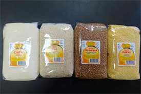 Услуги по расфасовке сахара, круп и мака под логотипом заказчика.